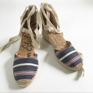 NET Sam Edelman Patsy Lace-up Espadrille 7 and 8